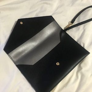 Faux leather wristlet, brand new!